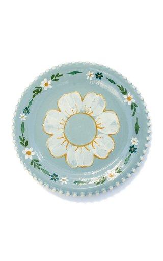 Handpainted Blue Sunflower Appetizer Plate Single