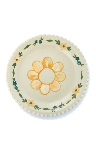Handpainted Ivory Sunflower Appetizer Plate