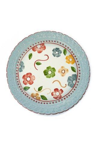 Handpainted Flower Center Plate