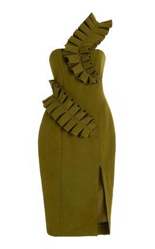 Kamala Asymmetric Knee-Length Dress