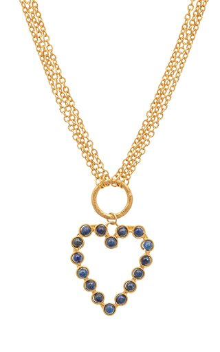 Love Lapis 22K Gold-Plated Necklace
