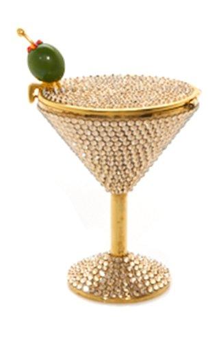 Dirty Martini Crystal-Embellished Pillbox