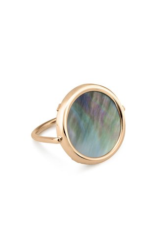 Disc 18K Rose Gold Mother-Of-Pearl Ring