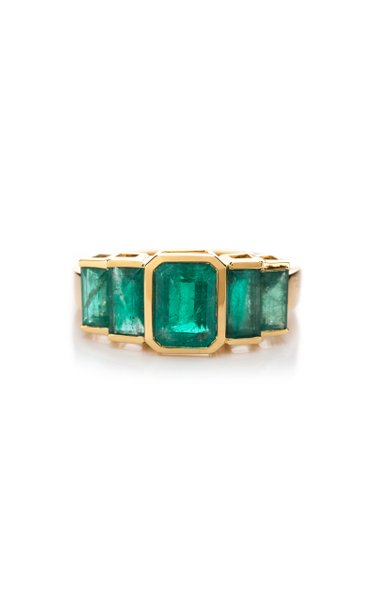Echo 18K Gold Emerald Ring