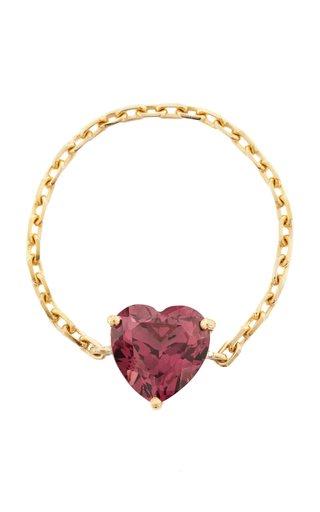 Supreme Chain 18K Gold Rhodolite Ring
