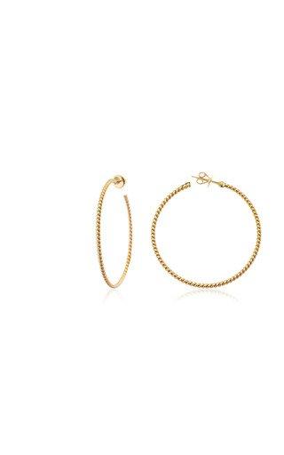 Rope 18K Gold Hoop Earrings