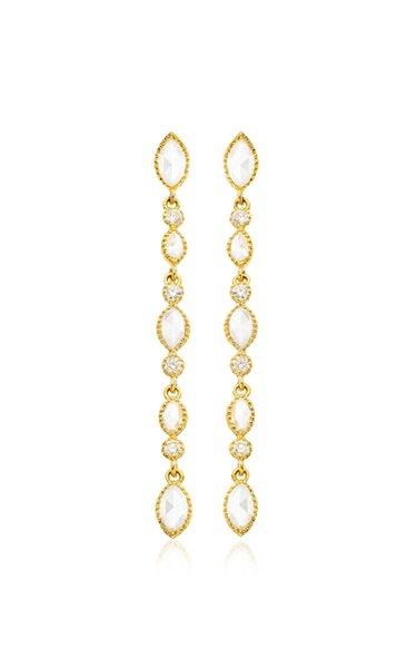 Amara 18K Gold Diamond Drop Earrings
