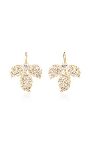 Enchanted Garden Leaf 18K Gold Diamond Earrings