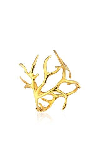 Coral 22K Gold Vermeil Cuff