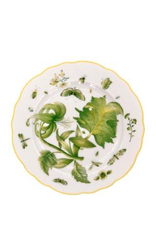 Green Lily Dessert Plate
