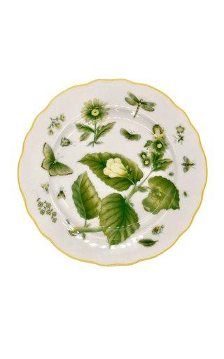 Green Daisy Dessert Plate