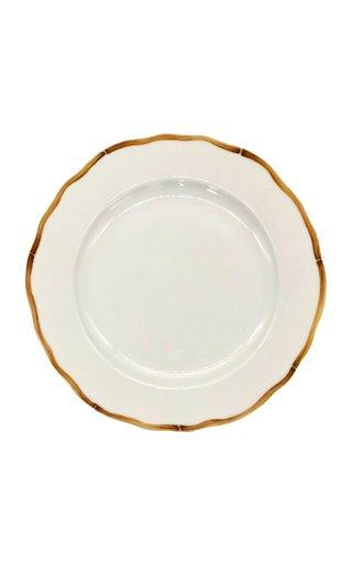 Bamboo Border Dessert Plate