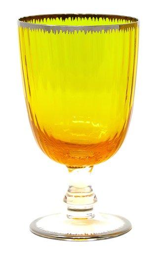 Murano Flame Wine Glass Yellow/Gold