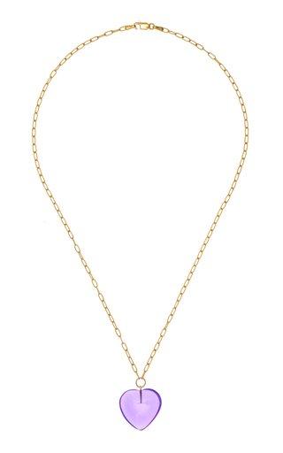 Amethyst Heart Necklace