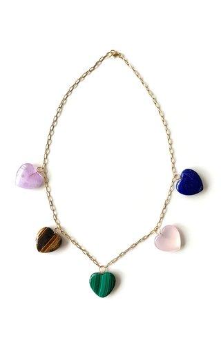 Multi-Gem Heart Necklace