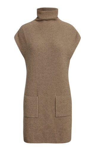 Ribbed Sweater Tunic Day Dress