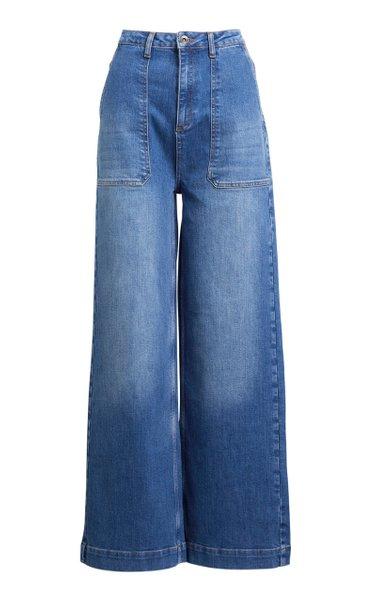 Ingrid Stretch High-Rise Wide-Leg Jeans