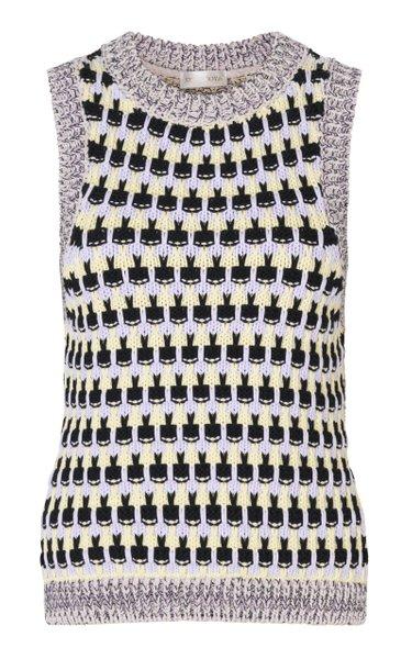 Greta Knit Cotton-Blend Vest