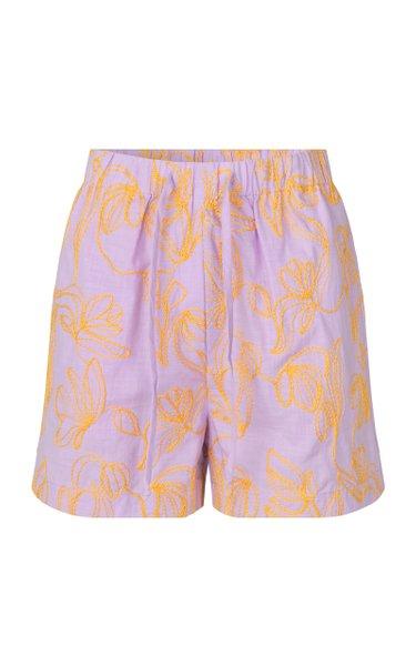 Danika Cotton-Blend Mini Shorts