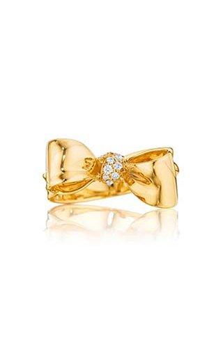 Petite Bow 18K Gold Diamond Ring