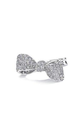 Small Bow 18K White Gold Diamond Ring