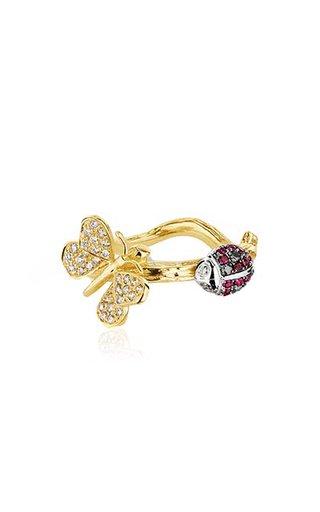 Wonderland 18K Gold Diamond, And Ruby Ring