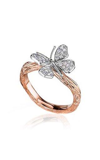 Wonderland Butterfly 18K Gold Diamond Ring