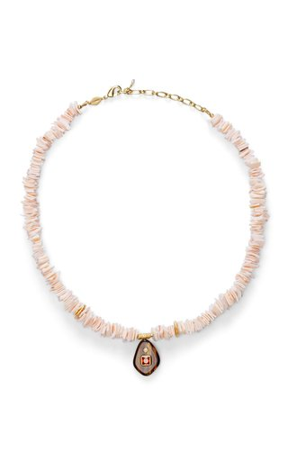 Foxy Puka Pearl Necklace