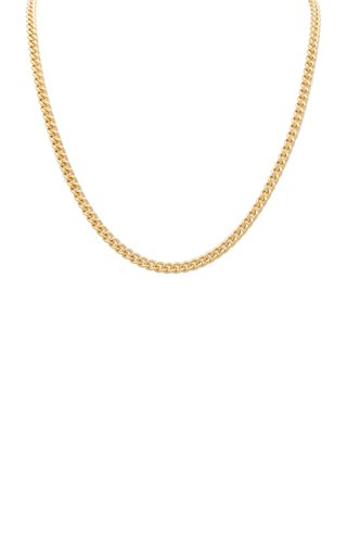 14K Yellow Gold Solid Curb Chain Necklace