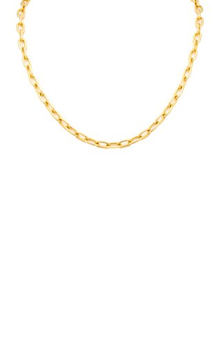 14K Yellow Gold Solid Oval Chain Necklace