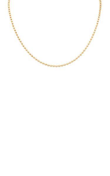 14K Yellow Gold Solid Ball Chain Necklace
