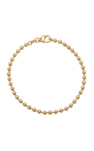 14K Yellow Gold Solid Ball Chain Bracelet