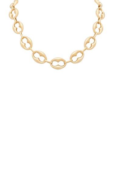 14K Yellow Gold Keyhole Marine Chain Necklace
