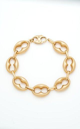 14K Yellow Gold Keyhole Marine Chain Bracelet