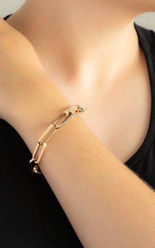 14K Yellow Gold Jumbo Rectangle Bracelet