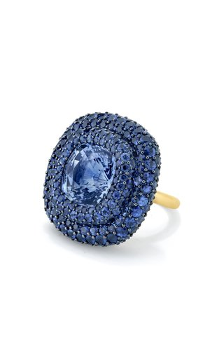 18K Yellow Gold One of a Kind Sapphire Ring