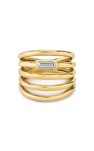 18K Yellow Gold Helics Diamond Ring