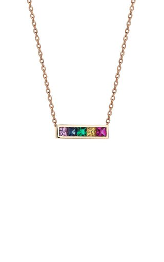 14K Rose Gold Multi-Stone Necklace