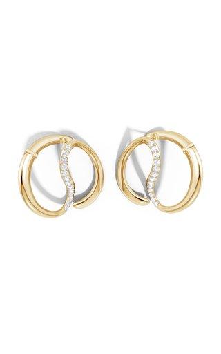 Yin-Yang Large 14K Yellow Gold Diamond Earrings