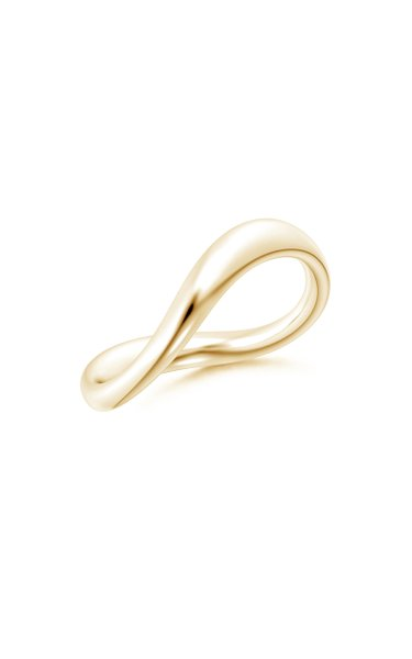 Brushstroke 14K Yellow Gold Ring