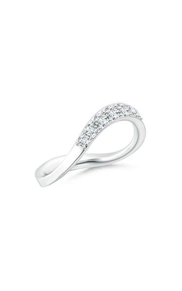 Brushstroke 14K White Gold Diamond Ring