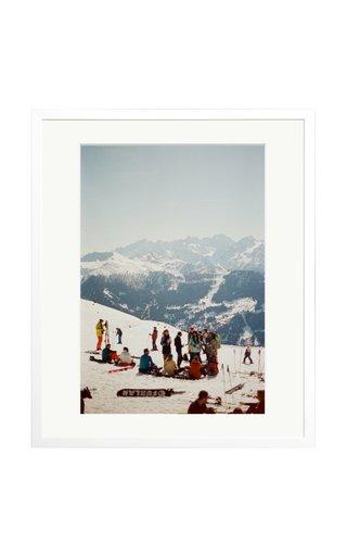 Apres Ski in Verbier Framed Photography Print