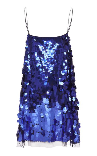 Playful Shine Sequined Tulle Mini Dress