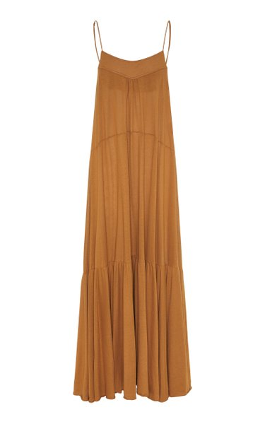 Cotton Lovers Tiered Cotton Maxi Dress