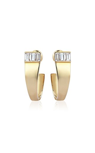 Loa 14K Yellow Gold Diamond Earrings