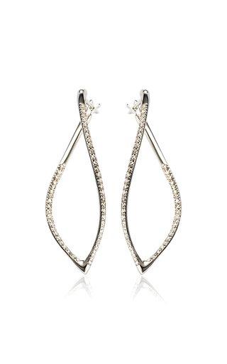 Navettes 18K White Gold Diamond Earrings