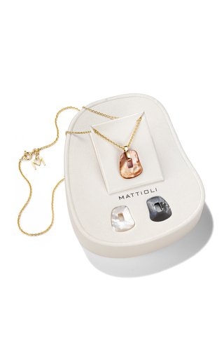 Puzzle Small Convertible 19K Yellow Gold Mother-of-Pearl Necklace