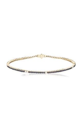 Diana 14K Yellow Gold Sapphire, Diamond Tennis Bracelet