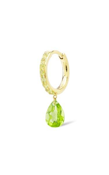 18K Yellow Gold Peridot Earring