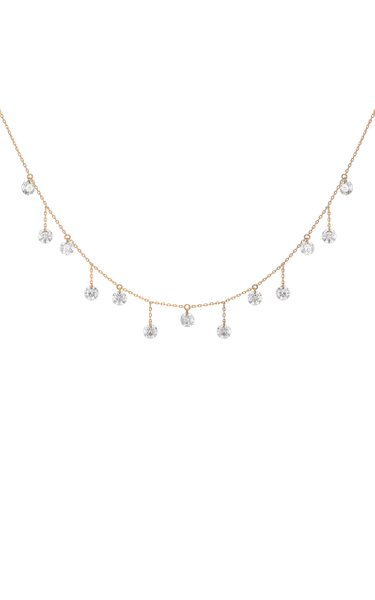 18K Yellow Gold 13 Diamonds Necklace